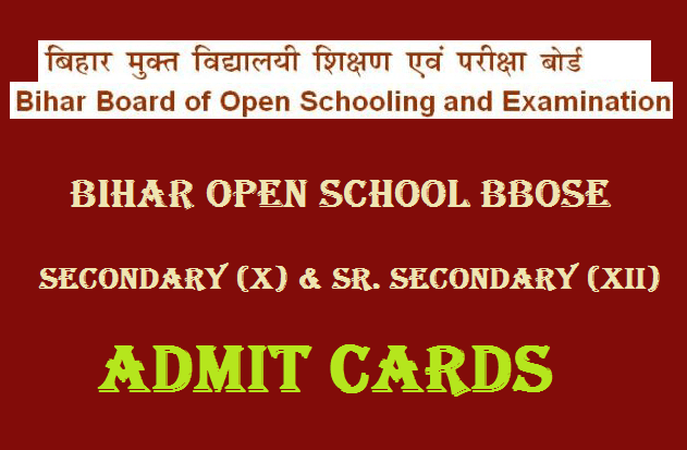 BBOSE 10th 12th Admit Card