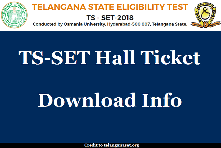 TS SET Hall Ticket