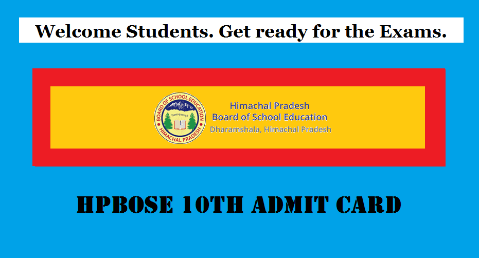 HP Board 10th Admit Card