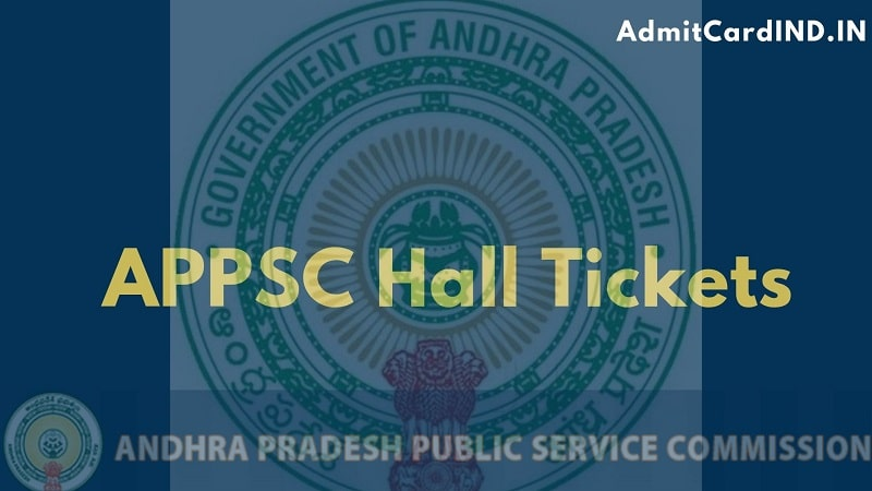 APPSC Hall Tickets for All Exams